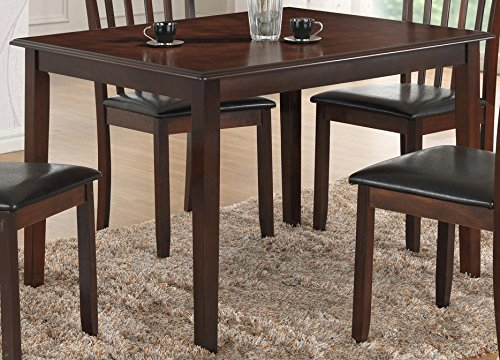[Best Quality Furniture D416T Dining Table Only Cappuccino Dinining] (Dinining Set)