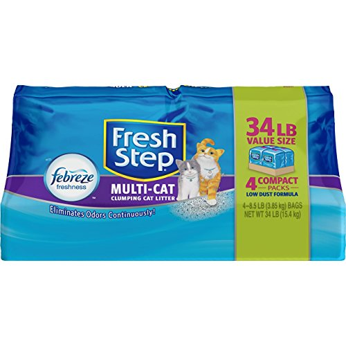 Fresh Step Multi-Cat with Febreze Freshness Clumping Cat Litter, 34 lb