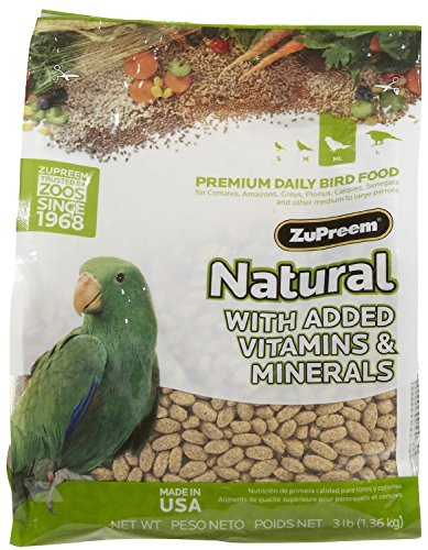 Zupreem Natural Blend Diet for Medium/Large Birds, 3-Pound