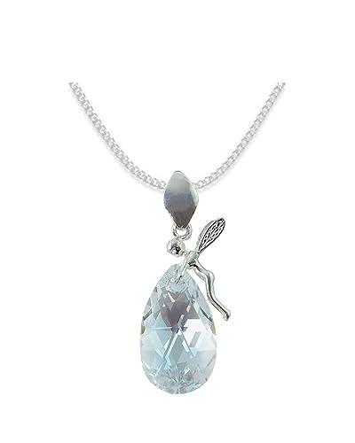 c5427cc218d439  ALMOND   MANDEL  Elf Stil Swarovski Elements - Farbe  Moonlight  Schön  Damen Halskette - Anhänger Halskette Schmuck Mutter Geschenk mit Kristallen  von ...