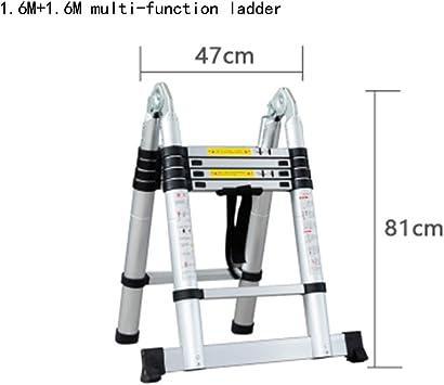 escalera de mano para de aleación de Aluminio escala multifunción escalera de mano escalera recta escala de caracol escala A cuatro peldaños escalera de mano escalera de mano escalera de Aluminio escaleras: