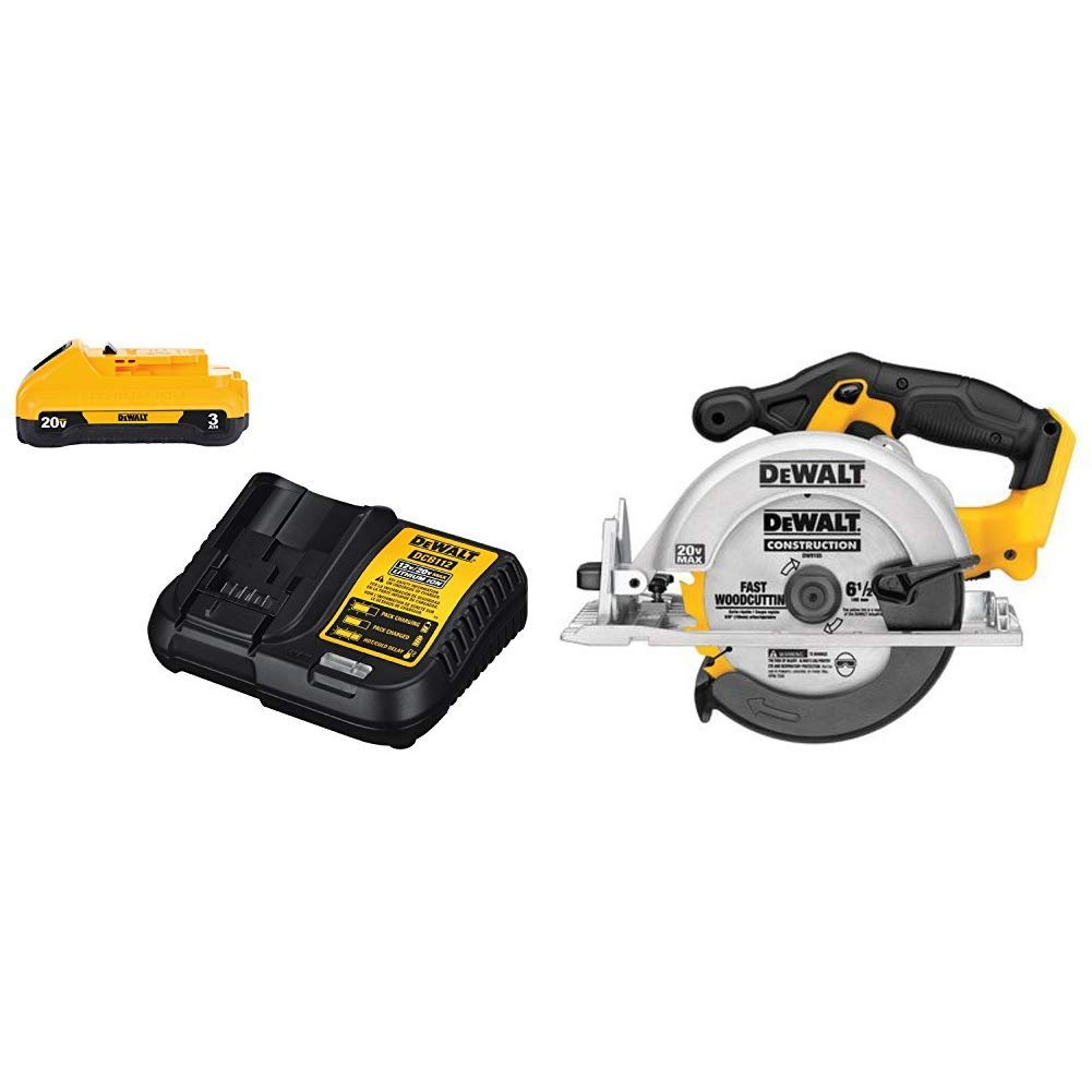 DEWALT DCS391B 20-Volt MAX Li-Ion Circular Saw Tool Only with DCB230C 20V Battery Pack