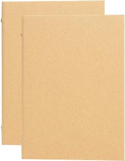 Carpeta de anillas, 2 unidad, Carpeta forrada, 4 anillas, 240mm*315mm, Archivador de anillas DIN A4, para cuaderno de dibujo, carpeta de papel kraft multifunción, cubierta de bricolaje: Amazon.es: Oficina y papelería