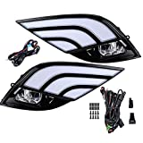 Car Light Fog Lights DRL LED Light w/Wiring Harness Compatible with Toyota Camry XSE SE 2018