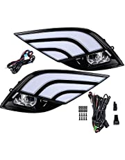 Car Light Fog Lights DRL LED Light w/Wiring Harness Compatible with Toyota Camry XSE SE 2018 2019 2020