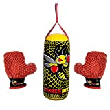 Franklin Sports Stinger Bee Youth Punching Bag and Glove Set