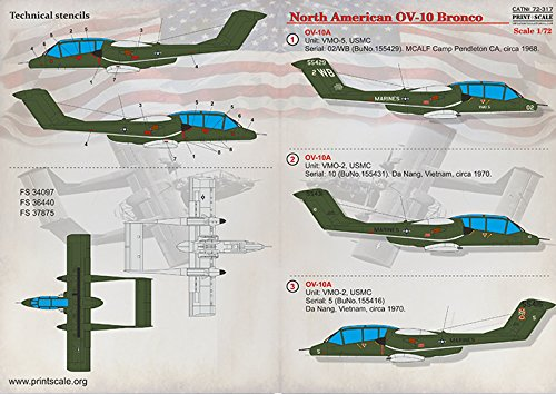 Wet Decal for REPUBLICWET Decal for North American OV-10 Bronco Model Decals 1/72 PRINT SCALE 72-317 Wet Decals for… 2