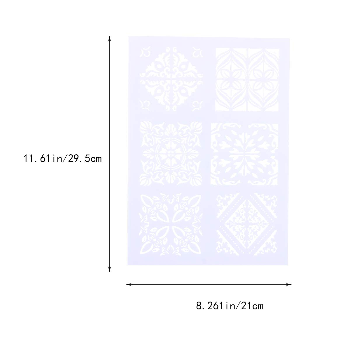 White Square Hollow out Painting Stencils DIY Craft Layering Stencils Plastic Painting Stencils