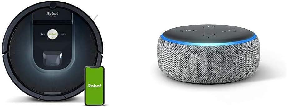 iRobot Roomba 981 - Robot Aspirador, WiFi, Aspiración de Alta Potencia, Dirt Detect, Recarga y Sigue la