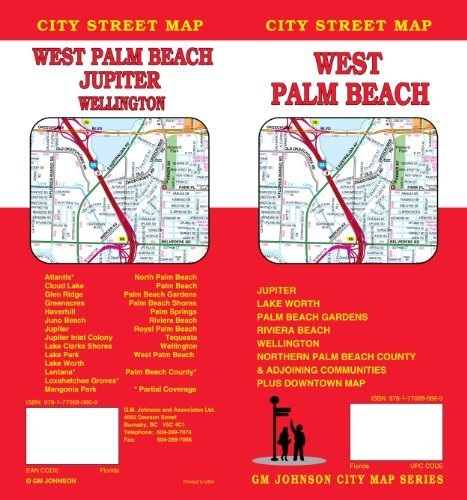 West Palm Beach, FL City Street Map by GM Johnson & Associates Ltd. - City Mall Johnson Map