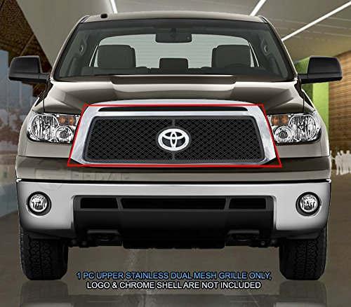 (Fedar Main Upper Dual Weave Mesh Grille for 2010-2013 Toyota Tundra)