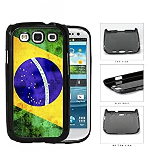 Brazil Flag Sideways Green Yellow and Blue Grunge Hard Snap on Phone Case Cover Samsung Galaxy S3 I9300