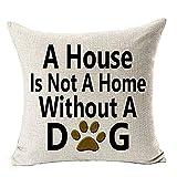 Leewos Pillowcase, Best Dog Lover Gift Cushion Cover Home Decor Throw Pillow Case