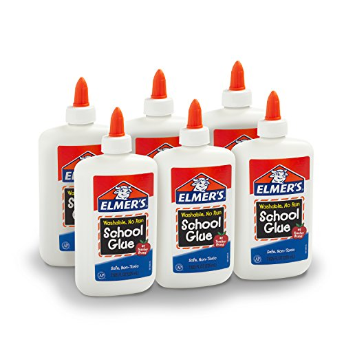 Elmer's Liquid School Glue, Washable, 7.625 Ounces, 6 Count - Great for Making Slime - ()