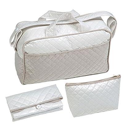 Bolso maternal tipo maleta. Incluye: Bolso + Cambiador + Bolsito neceser. Beige - Camel IMPERMEABLE. Amplia oferta de modelos en: Koketes, Mobibe, ...