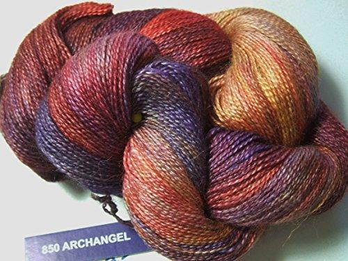 Silk Lace Yarn - Malabrigo Baby Silkpaca Archangel 850 Alpaca Silk Lace Yarn
