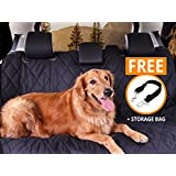 Dog Car Seat Cover for Pet Travel, BARK+BONE XL Luxury Waterproof, Scratch Proof, and Nonslip Hammock to Protect Car, Truck, and SUV Seats - Universal Fit