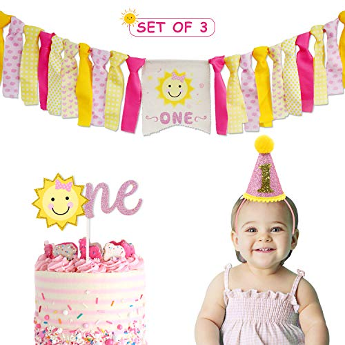 You Are My Sunshine Party Supplies High Chair Banner, Sunshine Party Decorations,Sunshine Cake Smash Garland Photo Props, Girls First Birthday Supplies