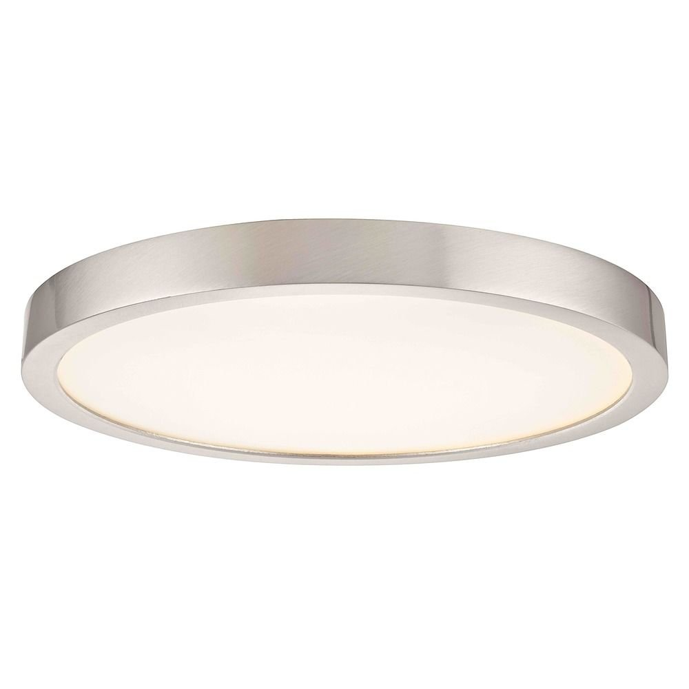 Flat LED Light Surface Mount 10-inch Round Satin Nickel 3000K 1511LM