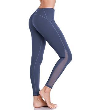 7606c608ece7c2 HAPYWER Sporthose Damen Yoga Training Gym Sport Leggings Lang Blickdicht  Yogahosen(Dunkelblau,XS)