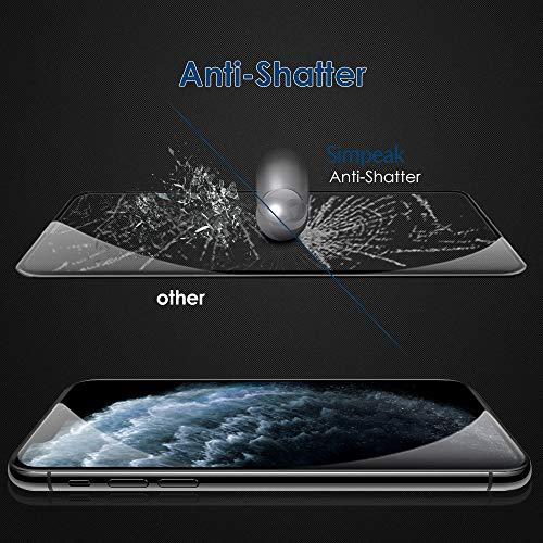 Simpeak 2-Unidades Cristal Templado Compatible para iPhone 11 Pro MAX 6.5″...