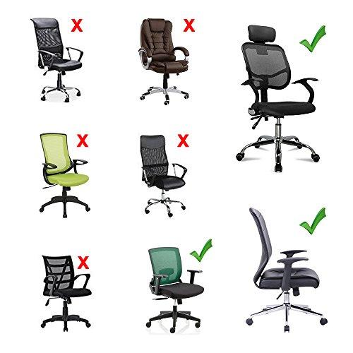 Bluecosto Soft Neoprene Office Chair Arm Covers Armrest