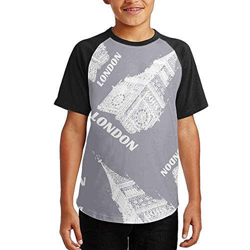 Wholesale Big Ben UK Boys Raglan Crew Neck Athletic Shirts Short Sleeve T Shirts for cheap