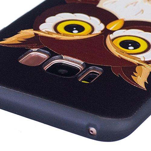Funda Samsung Galaxy S8 plus,SainCat Moda Alta Calidad suave de Relieve Pintura TPU Silicona Suave Funda Carcasa Caso Parachoques Diseño pintado Patrón para Carcasas Samsung Galaxy S8 plus TPU Silicon Gran búho