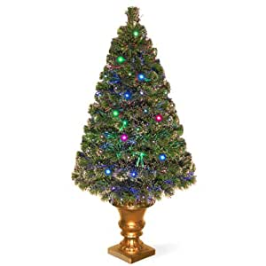 National Tree 48 Inch Fiber Optic Radiance Tree in Decorative Urn (SZRX7-136-48)