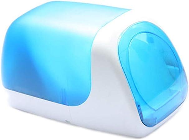 Lwieui Caja de Almacenamiento de CD Almacenamiento de CD DVD Box Caja del Organizador del Tope Tienda de Almacenamiento Organizar Sostiene Estanterías para CDs (Color : Azul, Size : 28.6X16X16CM): Amazon.es: Hogar