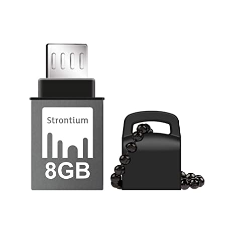 Strontium Nitro SR8GBBOTG2Z 8GB USB OTG Pen Drive (Black) Pen Drives at amazon