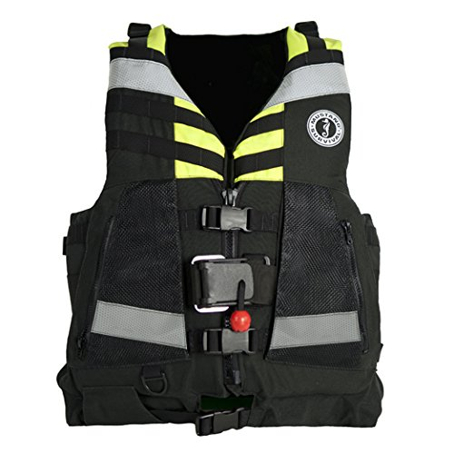 Mustang Survival Corp Universal Swift Water Rescuer Vest  Fluorescent Yellow Green Black