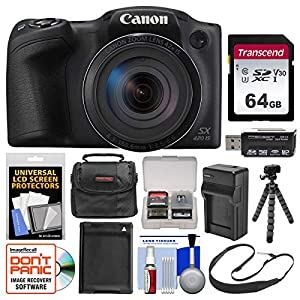 51ml5SJGuTL. SS300  - Canon PowerShot SX420 is Wi-Fi Digital Camera (Black) with 64GB Card + Case + Battery & Charger + Flex Tripod + Sling…