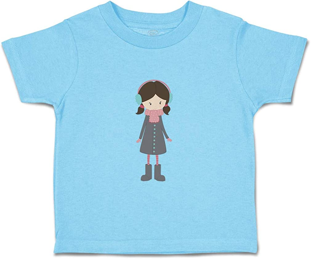 Custom Baby /& Toddler T-Shirt Grey Coat W Cotton Boy Girl Clothes