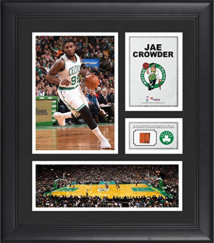 """Jae Crowder Boston Celtics Framed 15"""" x 17"""" Collage with Team-Used Ball - Fanatics Authentic Certified"""