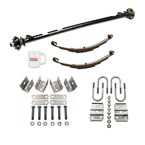 Atv Trailer Axle - 3,500 lb Idler Trailer Axle w/Leaf Springs, U-Bolts & Hanger Kit- 5x4.5 Bolt Pattern (85