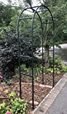 Ruddings Wood Metal Garden Fossdale Arch - Metal Arched Arbour Pergola - Plant Support Trellis - Path Archway Entrance