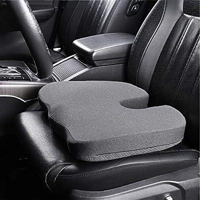 Basics Memory Foam Seat Cushion - Gray, U-Shape: Automotive