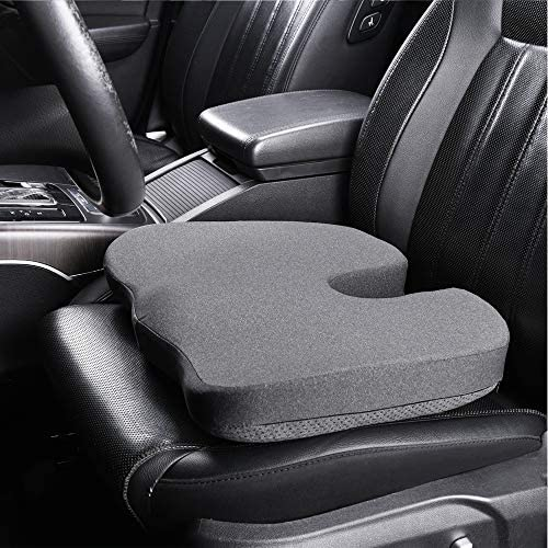 Basics Memory Foam Seat Cushion Gray Square