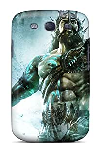 Awesome Poseidon In God Of War Ascension Flip Case With Fashion Design For Galaxy S3