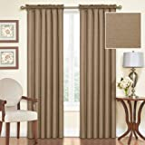 Cheap Eclipse Samara Blackout Energy-Efficient 42″x 84″ Curtain Panel, Set of 2 – Toffee