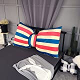 QIANGDA Bed Backrest/headboard Cushion Bowknot Shape Filling Cotton Sofa Throw Pillow Girl Bedroom, 5 Styles, 4 Sizes Optional (Color : 2#, Size : 45 x 30cm)