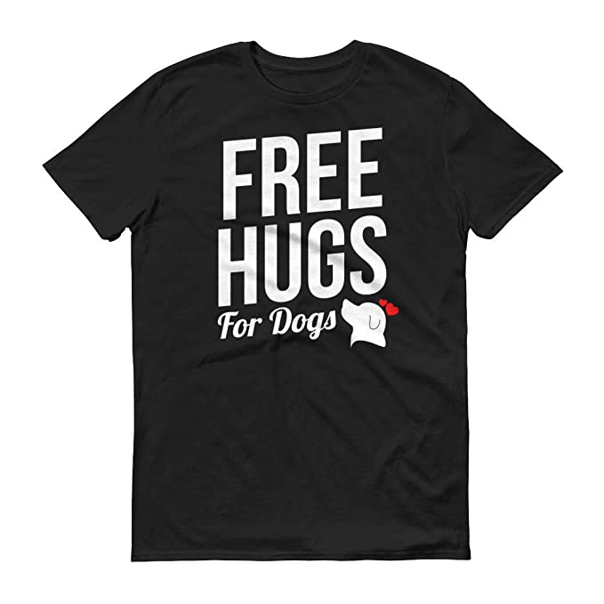 39a960cfb T Shirts And Print Mens Free Hugs for Dogs Novelty Gift Humor Graphic Funny  T-