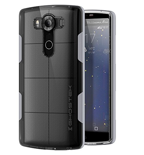LG V10 Case, Ghostek Cloak Series for LG V10 Slim Hybrid Impact Armor Cover Carrying Case | HD Screen Protector Exchange | Aluminum Bumper | Ultra Fit | Clear TPU (Silver)
