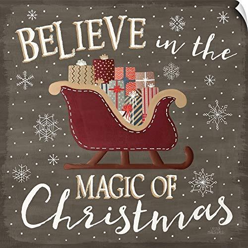 CANVAS ON DEMAND Christmas Cheer V Wall Peel Art Print, - Cheer Christmas Adhesive