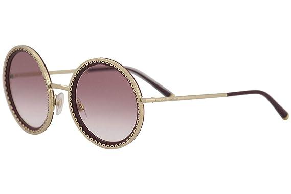 b0dab93490f5 Amazon.com: Dolce & Gabbana Women's 0DG2211 Gold/Bordeaux/Violet ...