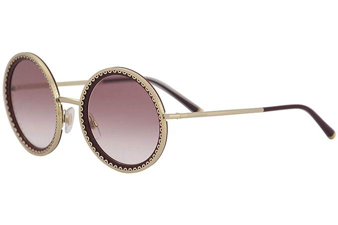 Dolce & Gabbana 0DG2211 Gafas de sol, Gold/Bordeaux, 53 para ...