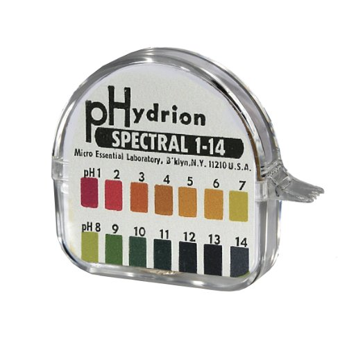 (Micro Essential Lab 94 Hydrion Spectral Insta-Chek Wide Range pH Test Paper Dispenser, 1 - 14 pH, Single Roll (Case of 10))