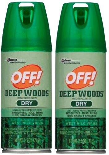 OFF! Deep Woods Dry Aerosol, 2.5 Ounce (Deep Woods Aerosol)