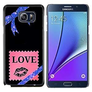 Stuss Case / Funda Carcasa protectora - Estrellas Universo Bow Pink Love - Samsung Galaxy Note 5 5th N9200